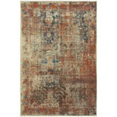 Oriental Weavers Pasha 521X6 Beige and Multi